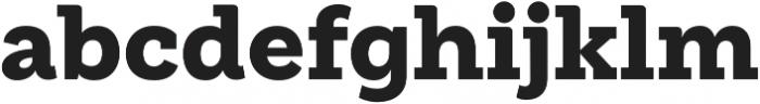 Weekly Black otf (900) Font LOWERCASE