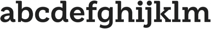 Weekly Bold otf (700) Font LOWERCASE
