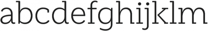 Weekly Light otf (300) Font LOWERCASE