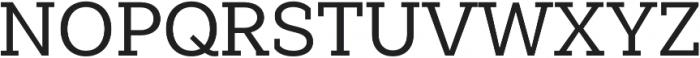Weekly Medium otf (500) Font UPPERCASE