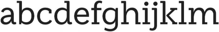 Weekly Medium otf (500) Font LOWERCASE