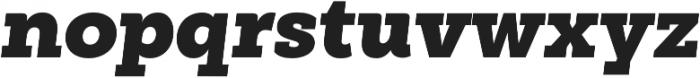 Weekly Pro ExtraBlack It otf (900) Font LOWERCASE