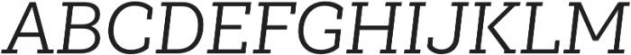 Weekly Pro Regular It otf (400) Font UPPERCASE