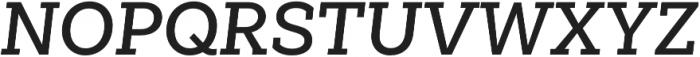 Weekly Pro SemiBold It otf (600) Font UPPERCASE
