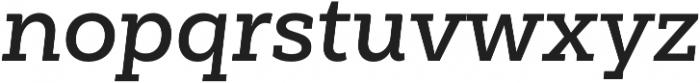 Weekly Pro SemiBold It otf (600) Font LOWERCASE