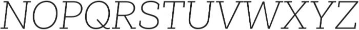 Weekly Pro UltraLight It otf (300) Font UPPERCASE