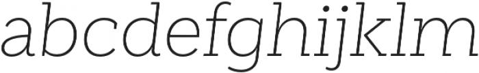 Weekly Pro UltraLight It otf (300) Font LOWERCASE