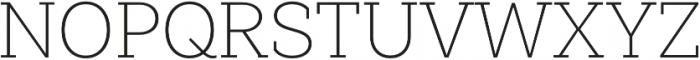 Weekly Pro UltraLight otf (300) Font UPPERCASE