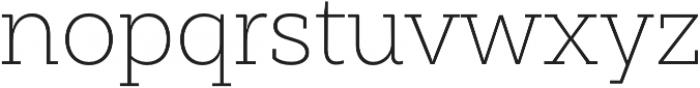 Weekly Pro UltraLight otf (300) Font LOWERCASE