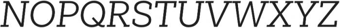 Weekly Regular It otf (400) Font UPPERCASE