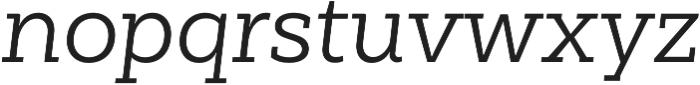 Weekly Regular It otf (400) Font LOWERCASE