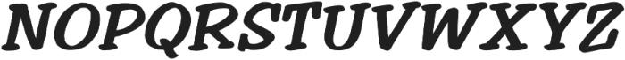 Welling Way Bold Italic otf (700) Font UPPERCASE