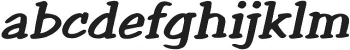 Welling Way Bold Italic otf (700) Font LOWERCASE