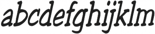 Welling Way Condensed Italic otf (400) Font LOWERCASE