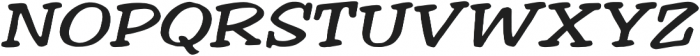 Welling Way Expanded Italic otf (400) Font UPPERCASE