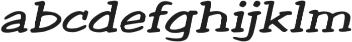 Welling Way Expanded Italic otf (400) Font LOWERCASE