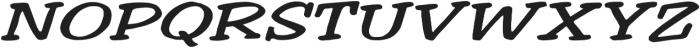 Welling Way Extra-expanded Italic otf (400) Font UPPERCASE