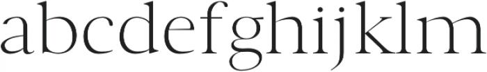 Wensley Light otf (300) Font LOWERCASE