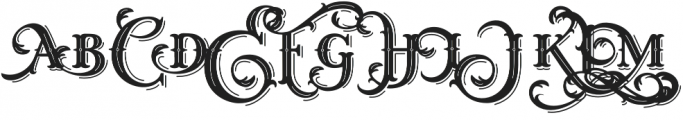 West End Shadow otf (400) Font UPPERCASE
