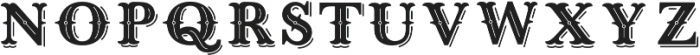 West End Shadow otf (400) Font LOWERCASE