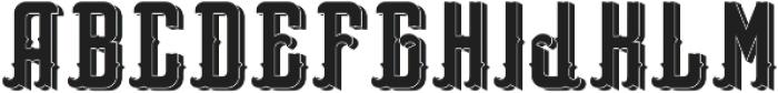 WestCoastFont Shadow otf (400) Font LOWERCASE