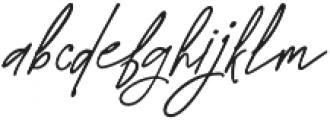 Westbury Signature alt 2 otf (400) Font LOWERCASE