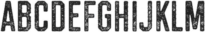 Westcraft Sans Stamp 3 otf (400) Font UPPERCASE