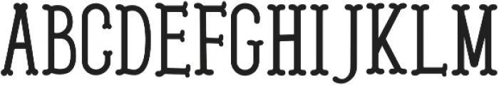 Westerish Regular otf (400) Font UPPERCASE