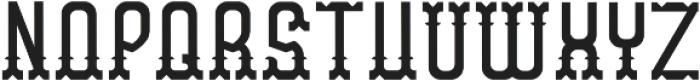 WesternFont Regular otf (400) Font UPPERCASE