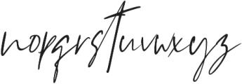 Westony Slant otf (400) Font LOWERCASE