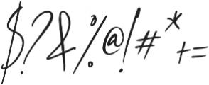 Westony Slant ttf (400) Font OTHER CHARS