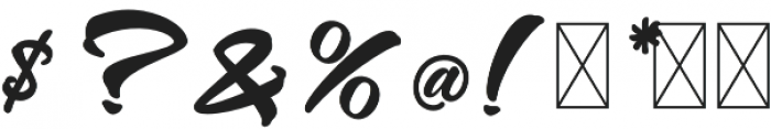 Westtgonia Barneh Regular otf (400) Font OTHER CHARS