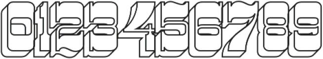 Westward Outline otf (400) Font OTHER CHARS