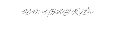 Weisston Script.ttf Font UPPERCASE