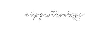 Weisston Script.ttf Font LOWERCASE