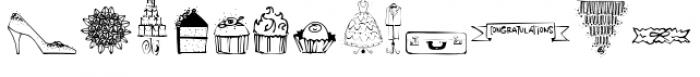 Wedding Doodles Font LOWERCASE