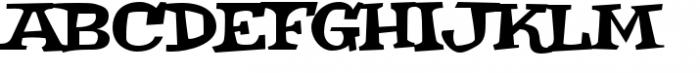 Weird Bill Squat Font UPPERCASE