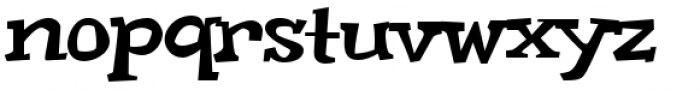 Weird Bill Squat Font LOWERCASE
