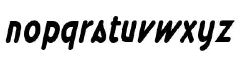 Wevli Cond Bold Italic Font LOWERCASE