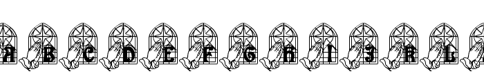 We Pray Font UPPERCASE