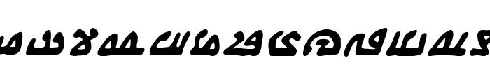 WeComeInPeaceBB-BoldItalic Font UPPERCASE