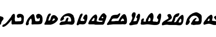 WeComeInPeaceBB-BoldItalic Font LOWERCASE