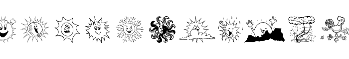 WeatherBats Font LOWERCASE