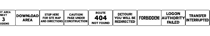 Web Road Signs JL Font UPPERCASE
