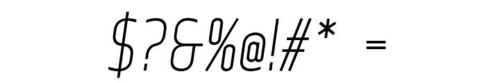 Web Serveroff Italic Font OTHER CHARS
