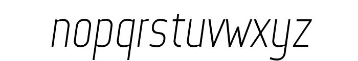 Web Serveroff Italic Font LOWERCASE