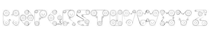 WebPress Font LOWERCASE