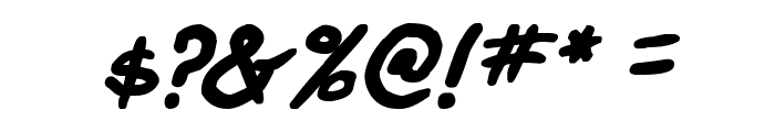 Webcomic Bros Italic Font OTHER CHARS