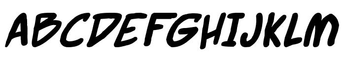 Webcomic Bros Italic Font UPPERCASE