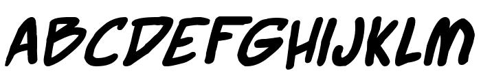 Webcomic Bros Italic Font LOWERCASE